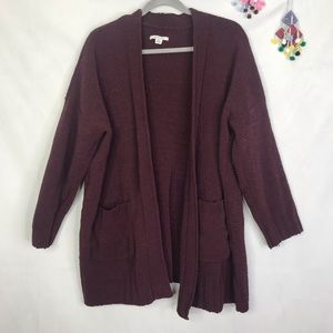 AEO oversize slouchy chenille sweater cardigan